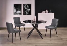 Sklenený okrúhly jedálenský stôl Avesta