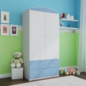 feb234a2065f Ourbaby Ourbaby šatníková skriňa - modro-biela