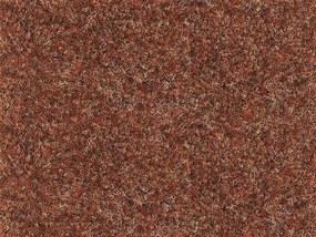 Metrážový koberec Santana 86 červenohnědá s podkladem resine - Rozměr na míru bez obšití cm