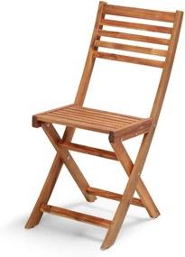 Skladacia záhradná stolička z akáciového dreva Le Bonom Natur