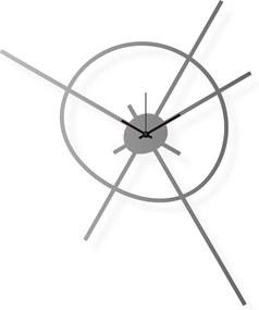 Veľké hodiny na stenu nerezové, 51x62 cm: Satelit | atelierDSGN
