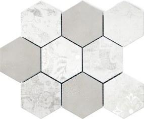 Mozaika Marconi Modern bielošedá hexagon 30x30 cm mat DMODERNBIGRHEX