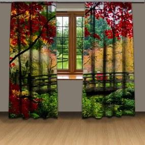 Závesy Jesenný park (Rozmer: 140x250, Materiál: Interlock)
