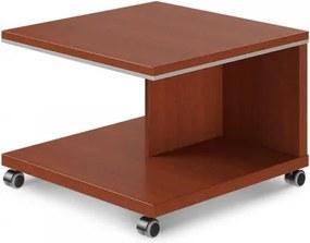 Konferenčný stolík mobilný TopOffice 70 x 70 cm višňa