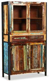 Kredenc z masívneho recyklovaného dreva, 100x40x175 cm