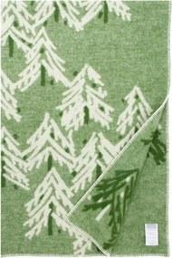 Vlnená deka Kuusi 130x200, zelená Lapuan Kankurit