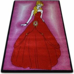 3kraft Kusový koberec KIDS princezná ružový C425