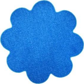 Vopi koberce Kusový koberec Color shaggy modrý kytka - 160x160 cm