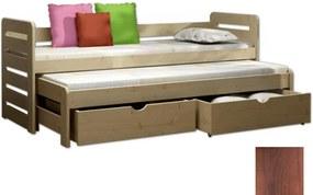 FA Detská posteľ Veronika 11 (180x80 cm) s prístelkou - viac farieb Farba: Orech, Variant bariéra: S bariérou