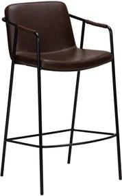 Tmavohnedá barová stolička v imitácii kože DAN-FORM Denmark Boto