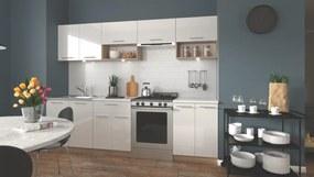 HALMAR Viola 260 kuchyňa biely lesk / dub sonoma