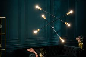 Dizajnové závesné svietidlo Walter čierne