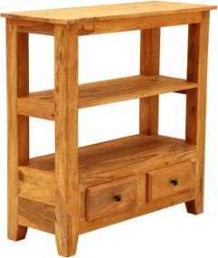 TV stolík, alebo konzolový stolík Jali 90x90x35 indický masív palisander Svetlomedová