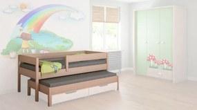 LU Rozkladacia posteľ Junior 180x90 - rôzne farby Farba: Dub bielený