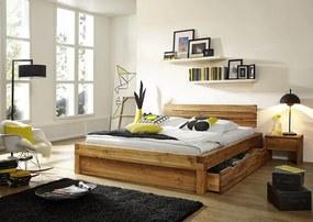 Bighome - YUKON posteľ so zásuvkou 200x200 cm, masívny buk