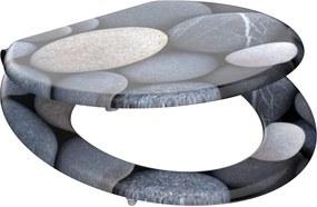 Wc sedátko Grey stones MDF sa spomaľovacím mechanizmom SOFT-CLOSE