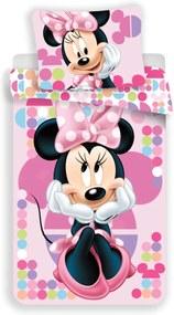 Obliečky Minnie Mouse 11 140x200 70x90 cm Mikrovlákno Jerry Fabrics