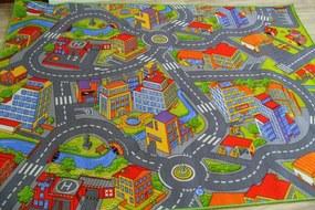 MAXMAX Detský koberec SMART CITY multicolor