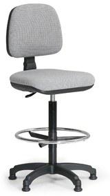 B2B Partner Zvýšená pracovná stolička MILANO s opierkou nôh - sivá