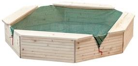 Pieskovisko drevené prírodné Woody