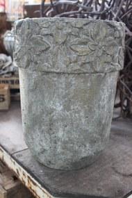 Sivý vysoký koloniálny kvetináč 34cm