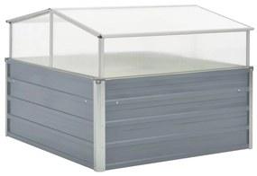 vidaXL Skleník, 100x100x85 cm, pozinkovaná oceľ, sivý