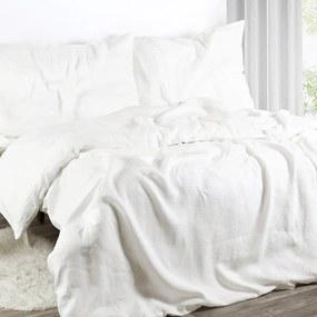 Goldea exkluzívne ľanové obliečky - biele 140 x 200 a 70 x 90 cm