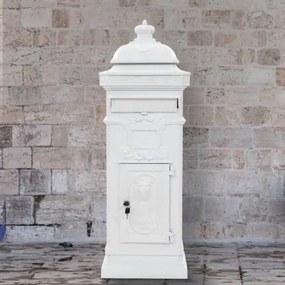 vidaXL Hliníková poštová schránka vo vintage štýle odolná voči hrdzi biela