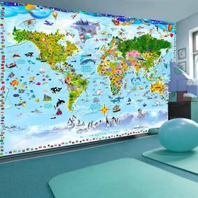 Fototapeta - World Map for Kids 400x280