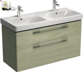 Kúpeľňová skrinka s umývadlom Kolo Kolo 120x71 cm v dekore jaseň Belen SIKONKOT2120JB