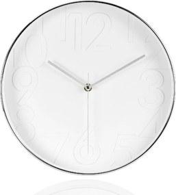 Nástenné hodiny ANDREA HOUSE (30 cm,) biele/chróm X17054