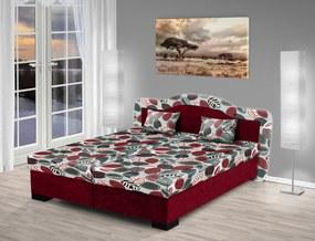 Nabytekmorava Čalúnená posteľ s úložným priestorom Zuzana 180 Barva: bordó