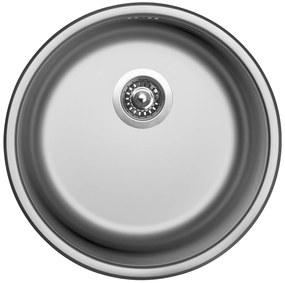 Sinks nerezový drez ROUND 450 V matný