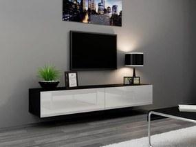CAMA MEBLE Televízny stolík VIGO 180 Farba: čierna/biela