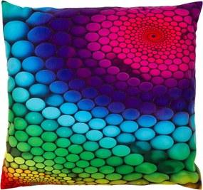 JAHU Vankúšik Bodky farebná, 40 x 40 cm