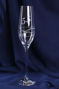 Výročný pohár na 55. narodeniny - ŠAMPANSKÉ so swarovski krištáľmi 3. (210 ml)