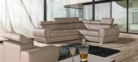 Luxusná sedacia súprava Veneto 2 Roh: Orientace rohu Levý roh, DLM: Potah Eko-kůže Loft 1 bílá