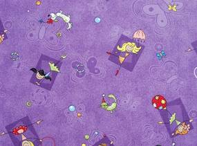 AKCE: 110x480 cm Metrážový koberec Happy / 856 fialová - Rozměr na míru bez obšití cm