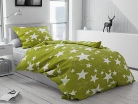 Obliečky mikroplyš Star zelená