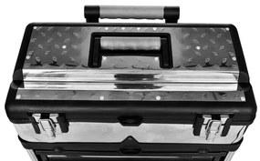 vidaXL Mobilný kufor pre náradie z 3 častí
