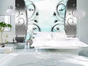 Murando DeLuxe Tapeta stříbrná brána 150x105 cm