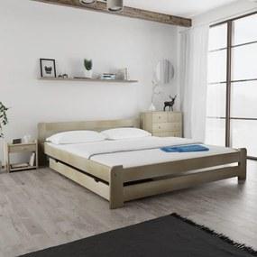 Maxi Drew Posteľ Laura 180 x 200 cm, borovica Rošt: s latkovým roštom, Matrac: 2 ks matracov Economy 10 cm
