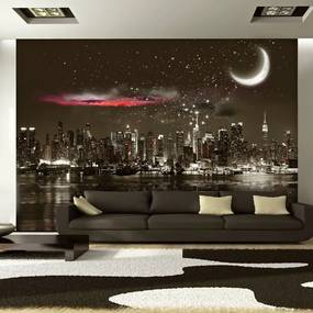 Fototapeta - Starry Night Over NY 100x70