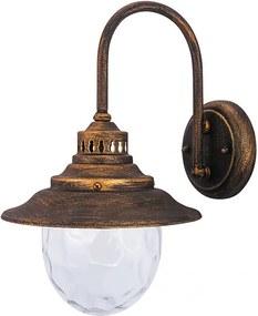 Rábalux 8677 Vonkajšie Nástenné Lampy Barcelona antická zlatá kov E27 MAX 60W IP43