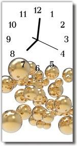 Nástenné hodiny vertikálne  Bubliny bielej gule