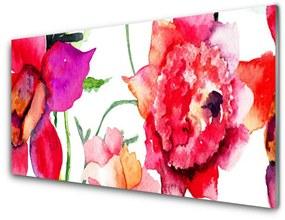 Nástenný panel Kvety umenie 140x70cm