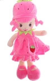 Plyšová bábika JAHÔDKA (v. 33 cm) - ružová