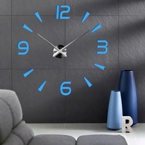 X-momo Moderné nástenné hodiny nalepovacie S030 PINEA modré
