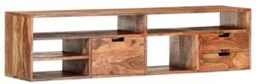 vidaXL TV skrinka 140x30x35 cm masívne sheeshamové drevo