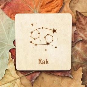 Drevený podpivník - Znamenie zverokruhu Rak